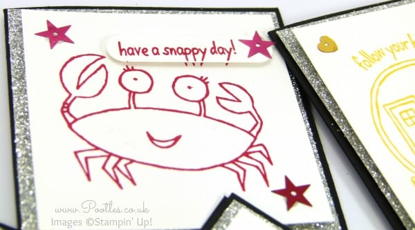 Stampin' Up! Demonstrator Pootles - You're Sublime Set of 3 x 3 Cards Crab