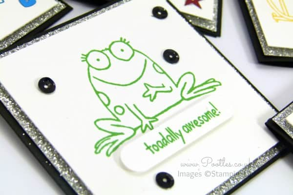 Stampin' Up! Demonstrator Pootles - You're Sublime Set of 3 x 3 Cards Toad