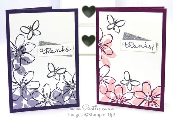 Stampin' Up! UK Demonstrator Pootles -  July Thank You Cards