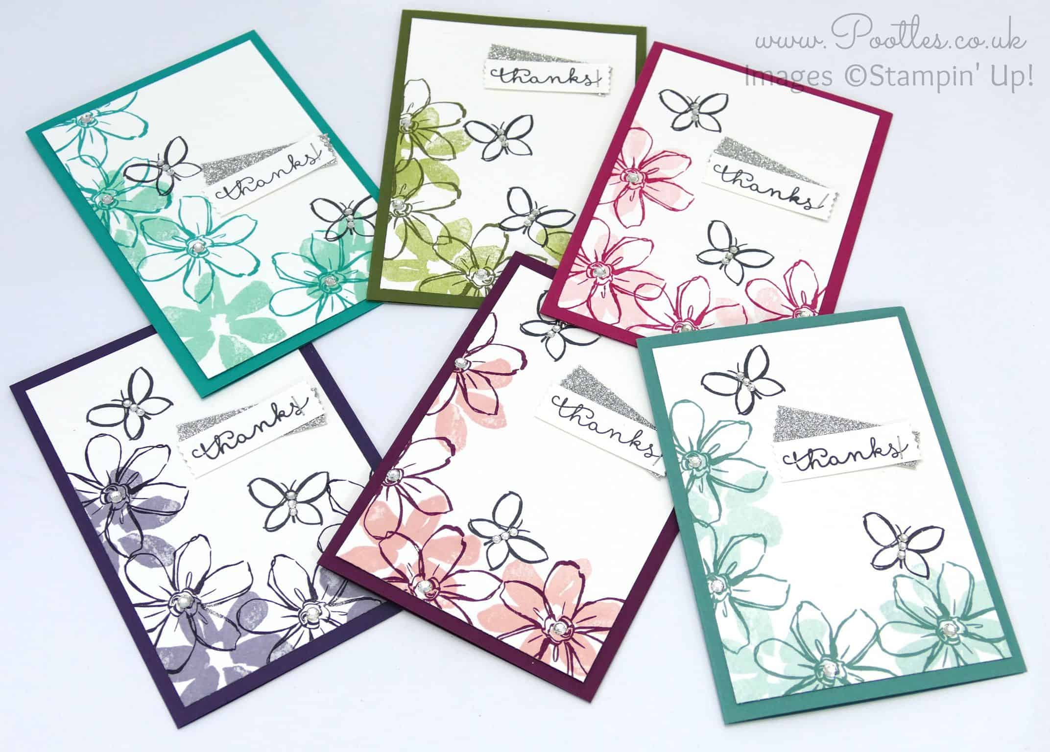 Stampin' Up! UK Demonstrator Pootles –  July Thank You Cards