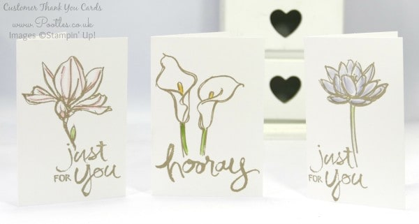 Pootles' August Thank You Cards using Remarkable You from Stampin' Up!