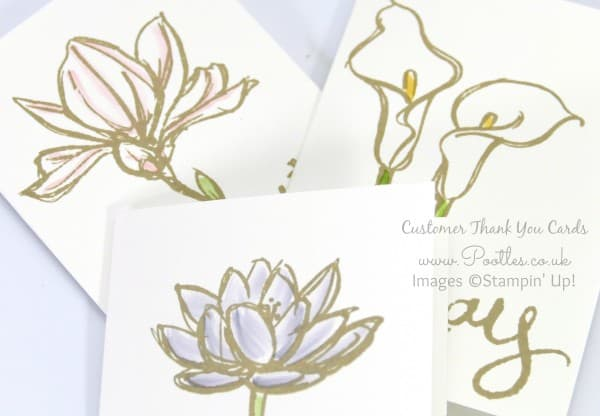 Pootles' August Thank You Cards using Remarkable You from Stampin' Up! Close Up