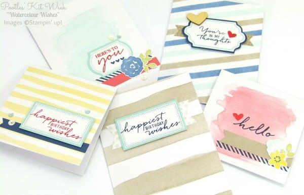 Pootles Kit Week #7 - Watercolor Wishes Card Kit 1
