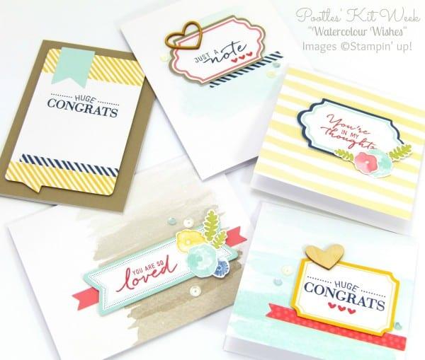 Pootles Kit Week #7 - Watercolor Wishes Card Kit 2