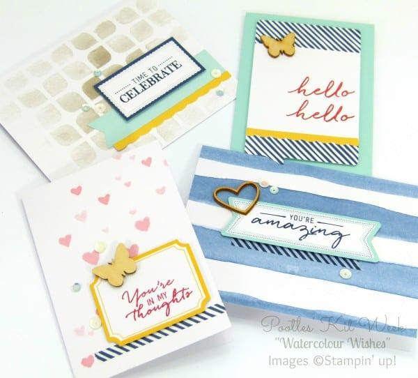 Pootles Kit Week #7 - Watercolor Wishes Card Kit 3