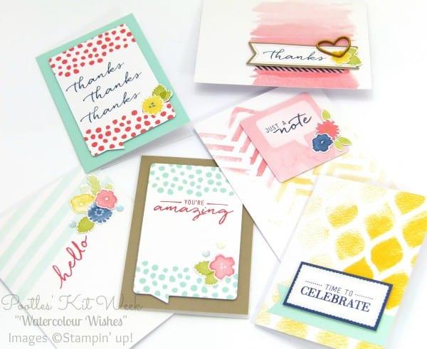 Pootles Kit Week #7 - Watercolor Wishes Card Kit 4