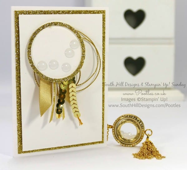 South Hill Designs & Stampin' Up! Sunday Gold Tassel Card