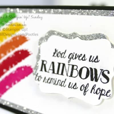 South Hill Designs & Stampin' Up! Sunday Rainbow 3×6″ Card