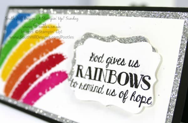 South Hill Designs & Stampin' Up! Sunday Rainbow 3x6 Card