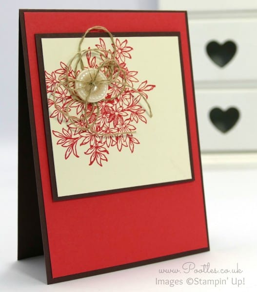 Stampin' Up! Demonstrator Pootles - Awesomely Artistic Button Floral Card