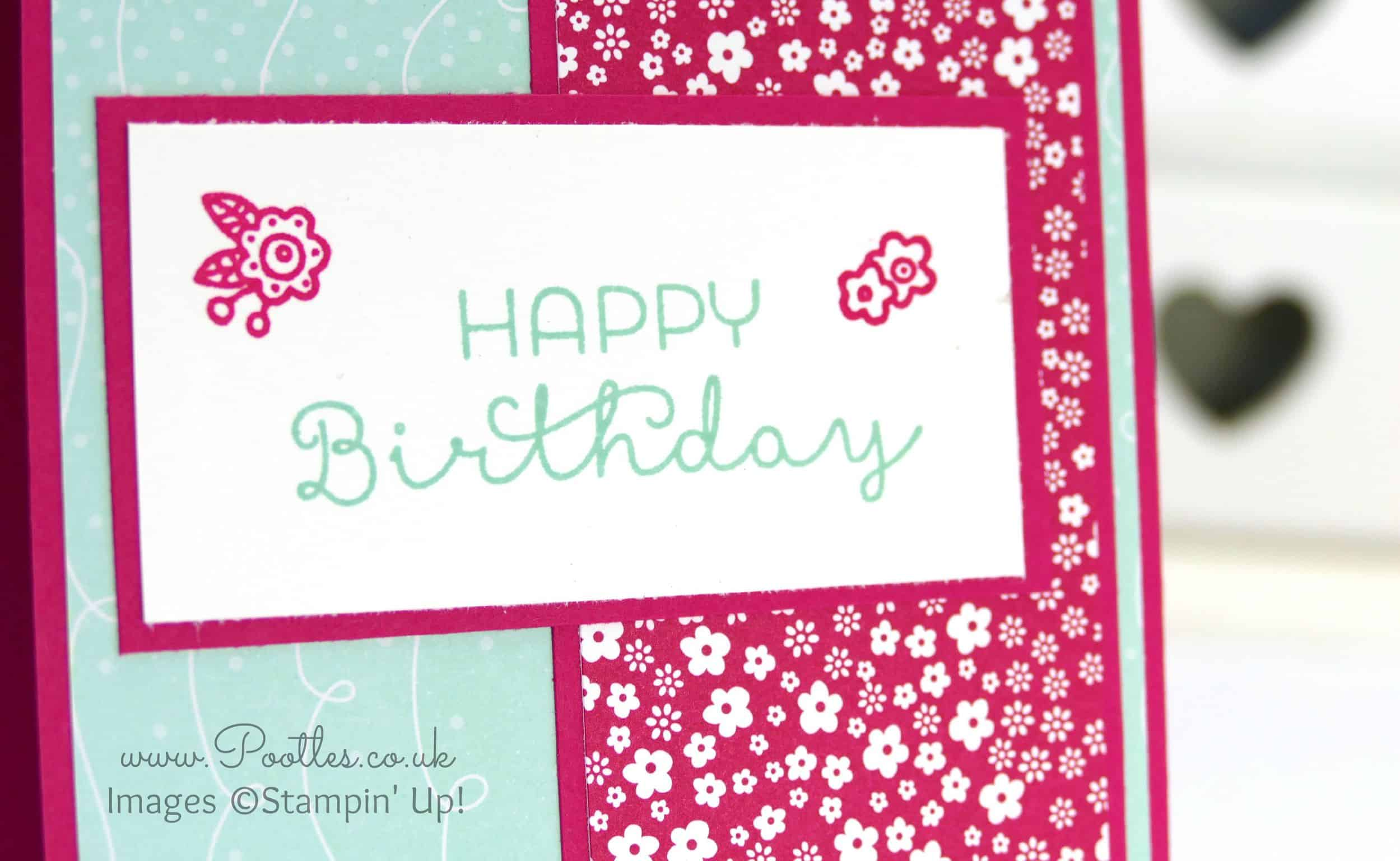 Stampin up demonstrator pootles cottage greetings happy birthday stampin up demonstrator pootles cottage greetings happy birthday with flowers izmirmasajfo