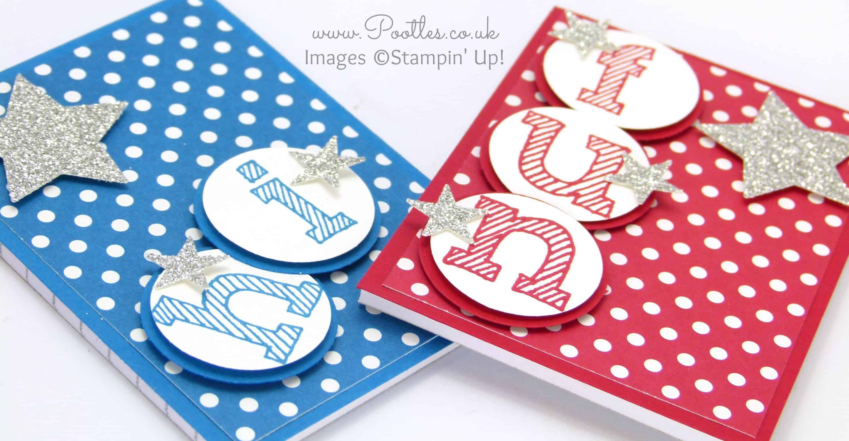 Cute A7 Notebook with Stampin' Up! Epic Alphabet