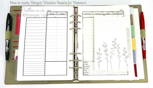Stampin' Up! Demonstrator Pootles - Diary Planner Insert Window Tutorial using Project Life 2