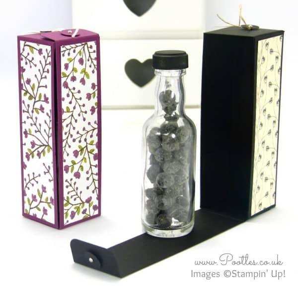 Stampin' Up! Demonstrator Pootles - Hinged Floral Bottle Box Tutorial using Stampin' Up! DSP