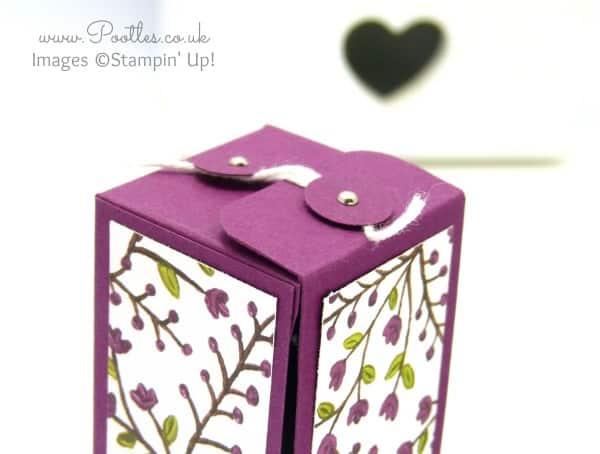 Stampin' Up! Demonstrator Pootles - Hinged Floral Bottle Box Tutorial using Stampin' Up! DSP Top