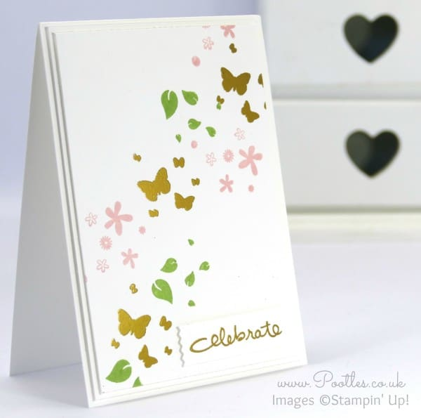 Stampin' Up! Demonstrator Pootles - Perpetual Birthday + Gold Embossing. Celebrate!