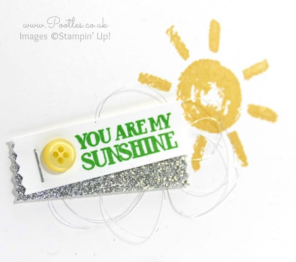 Stampin' Up! Demonstrator Pootles - Simply Stamped, You are my Sunshine close up