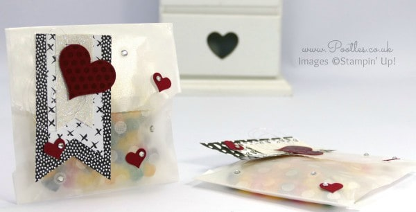 Stampin' Up! Demonstrator Pootles - Sketched Dots Sweetie Tag a Bag Tutorial using Triple Banner Punch