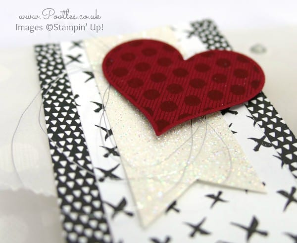 Stampin' Up! Demonstrator Pootles - Sketched Dots Sweetie Tag a Bag Tutorial using Triple Banner Punch Punch detail