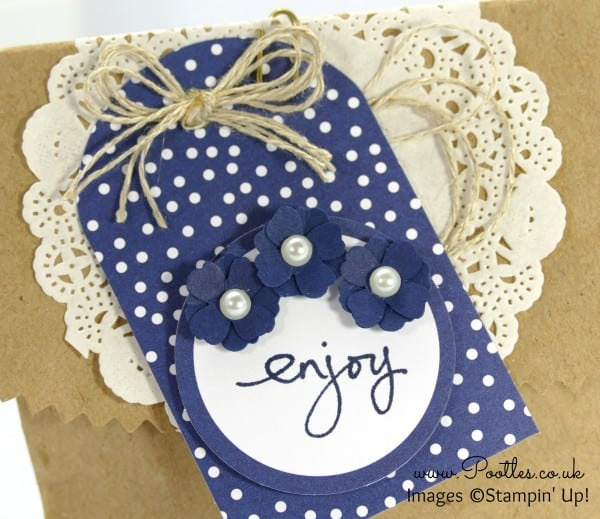 Stampin' Up! Demonstrator Pootles - Tag a Bag Goodie Bags Showcase Night of Navy