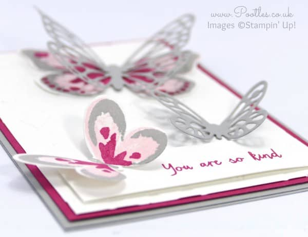 Stampin' Up! Demonstrator Pootles - Watercolor Wings, Bold Butterflies and Fluttering! 3d effect
