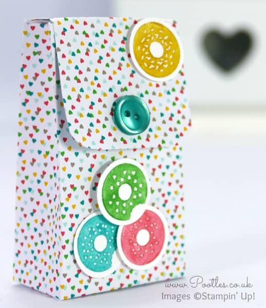 Stampin' Up! UK Demonstrator Pootles - 6x6 Cherry on Top Button Box Tutorial Single Box