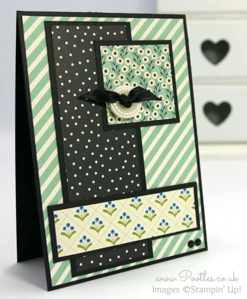 Stampin' Up! UK Demonstrator Pootles - Pretty Petals Layered Card