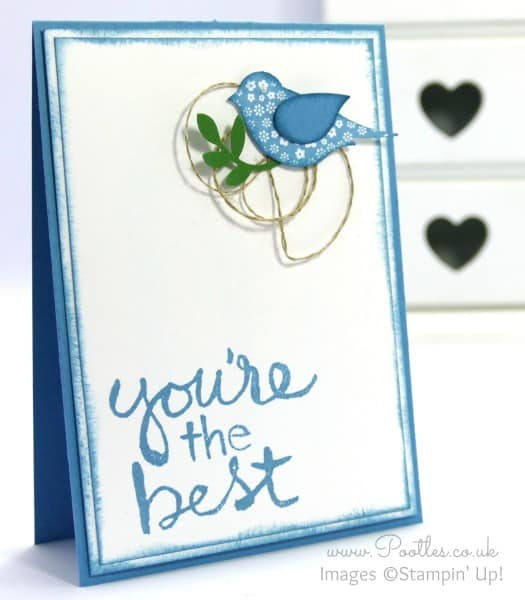 Stampin' Up! UK Demonstrator Pootles - Watercolour Words with Bird Builder Punch