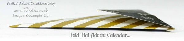 Pootles Advent Countdown #1 Advent Calendar Tutorial Folded Flat
