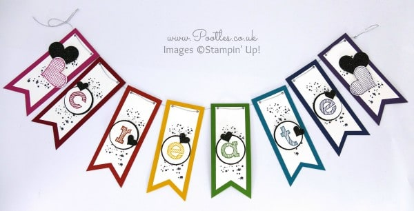 Stampin' Up! Demonstrator Pootles - Create Banner Tutorial using Stampin' Up! Banner Punch