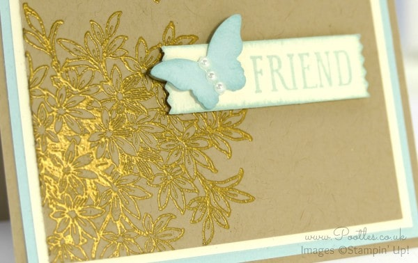 Stampin' Up! Demonstrator Pootles - My Awesomely Artistic Friend Heat Embossing Detail