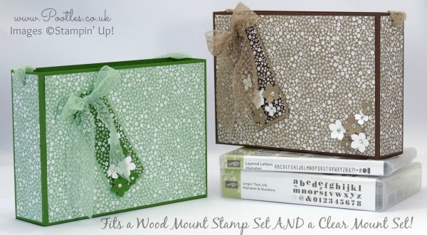 Stampin' Up! Demonstrator Pootles - Super Huge Bag for Stampin' Up! Wood & Clear Mount Stamp Sets