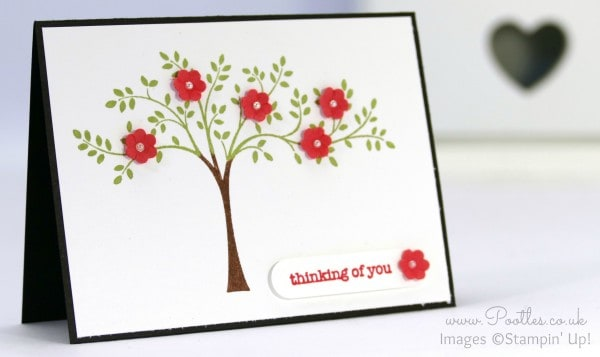 Stampin' Up! UK Demonstrator Pootles - Adorable A7 Size Hopeful Thoughts Card