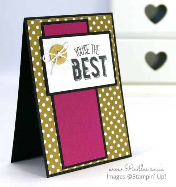 Stampin' Up! UK Demonstrator Pootles - Friendly Wishes and Gold Designer Paper....