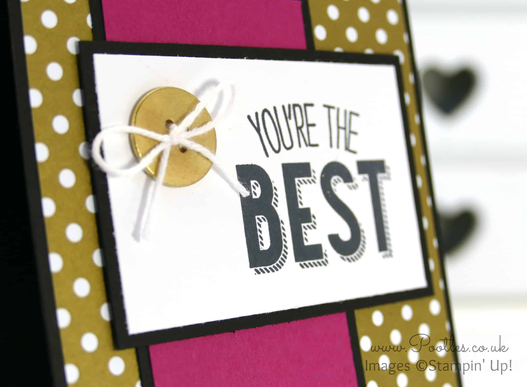 Friendly Wishes and Gold Designer Paper….