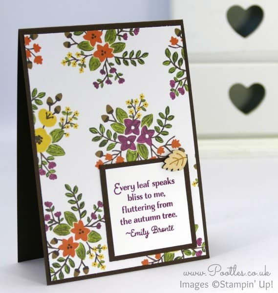 Stampin' Up! UK Demonstrator Pootles - Into the Woods with Lighthearted Leaves