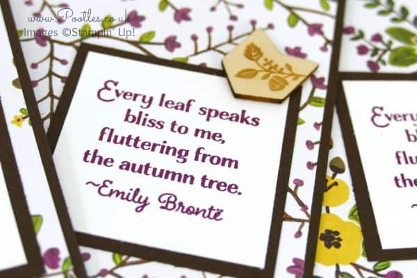 Stampin' Up! UK Demonstrator Pootles - Into the Woods with Lighthearted Leaves Stamping Detail