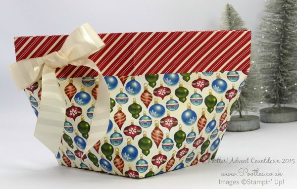 Pootles Advent Countdown #11 Enormous Self Close Bag Tutorial