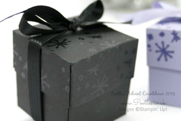 Pootles Advent Countdown #12 Heat Embossed Pretty Box Tutorial Close Up