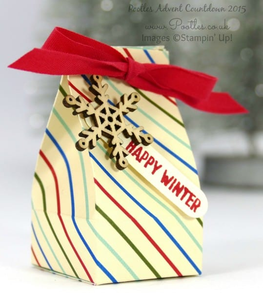 Pootles Advent Countdown #14 Mini Box for Chocolate Balls Tutorial Single Box