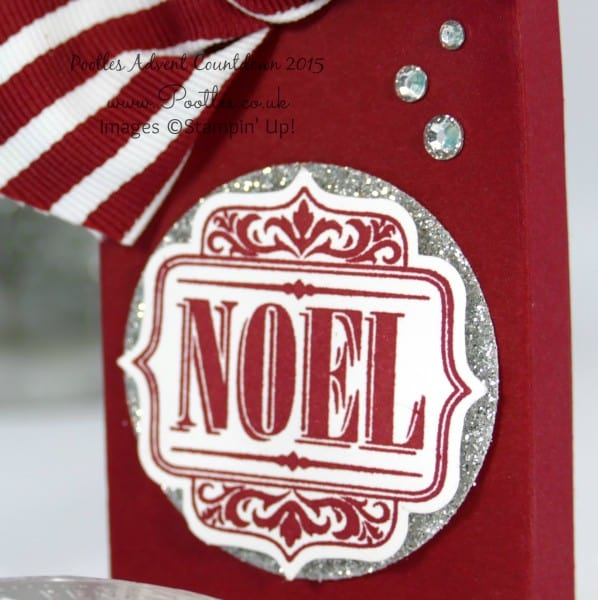 Pootles Advent Countdown #15 Chocolate Coin Box Tutorial Stamping Detail