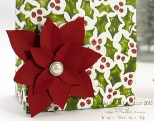 Pootles Advent Countdown #7 Folded Gift Bag Tutorial Large! Poinsettia