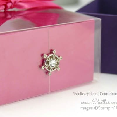 Pootles Advent Countdown #8 Beautiful Colour Acetate Lidded Box Tutorial