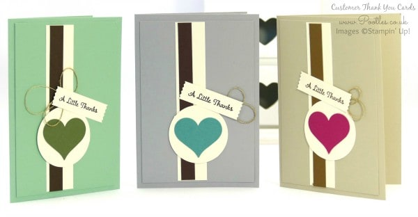 Pootles' Thank You Cards for September! All 3 Colours
