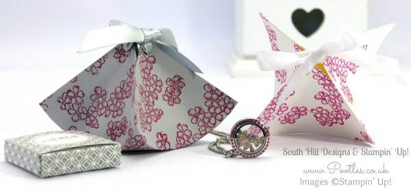 South Hill Designs  & Stampin' Up! Sunday Fluted Box & Locket Tutorial
