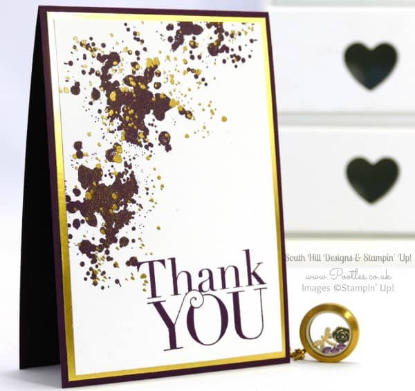 South Hill Designs & Stampin' Up! Sunday Gold + Purple Card Locket Tutorial