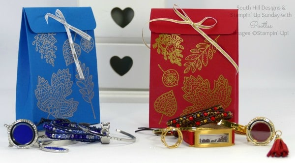 South Hill Designs & Stampin' Up! Sunday New Jewellery plus Bag Tutorial