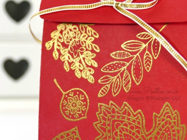 South Hill Designs & Stampin' Up! Sunday New Jewellery plus Bag Tutorial Gold and Red Bag