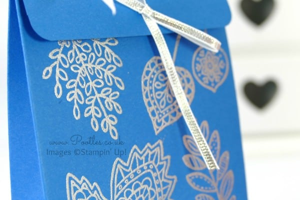 South Hill Designs & Stampin' Up! Sunday New Jewellery plus Bag Tutorial Silver and Blue Bag