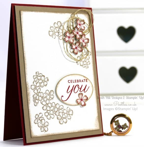South Hill Designs & Stampin Up Sunday Soft Flowers & Red Accents
